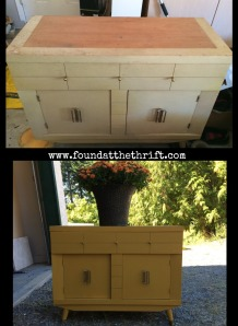 vintage, harmony house, side table, chalk paint, before and after, found at the thrift