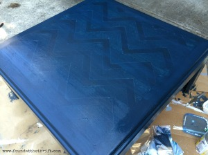 blue chalk paint, diy, chevron, chalk paint, chalk painted project, i made it myself