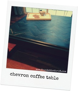 chevron, chalk painted, chalk paint project, chalk paint, upcycle, found at the thrift, found at thrift