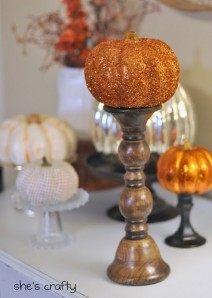 found at the thrift, DIY halloween decor, DIY halloween decoration, candle sticks for halloween decor, halloween candle sticks, halloween candlesticks, DIY halloween candles, pumpkin holders, halloween displays