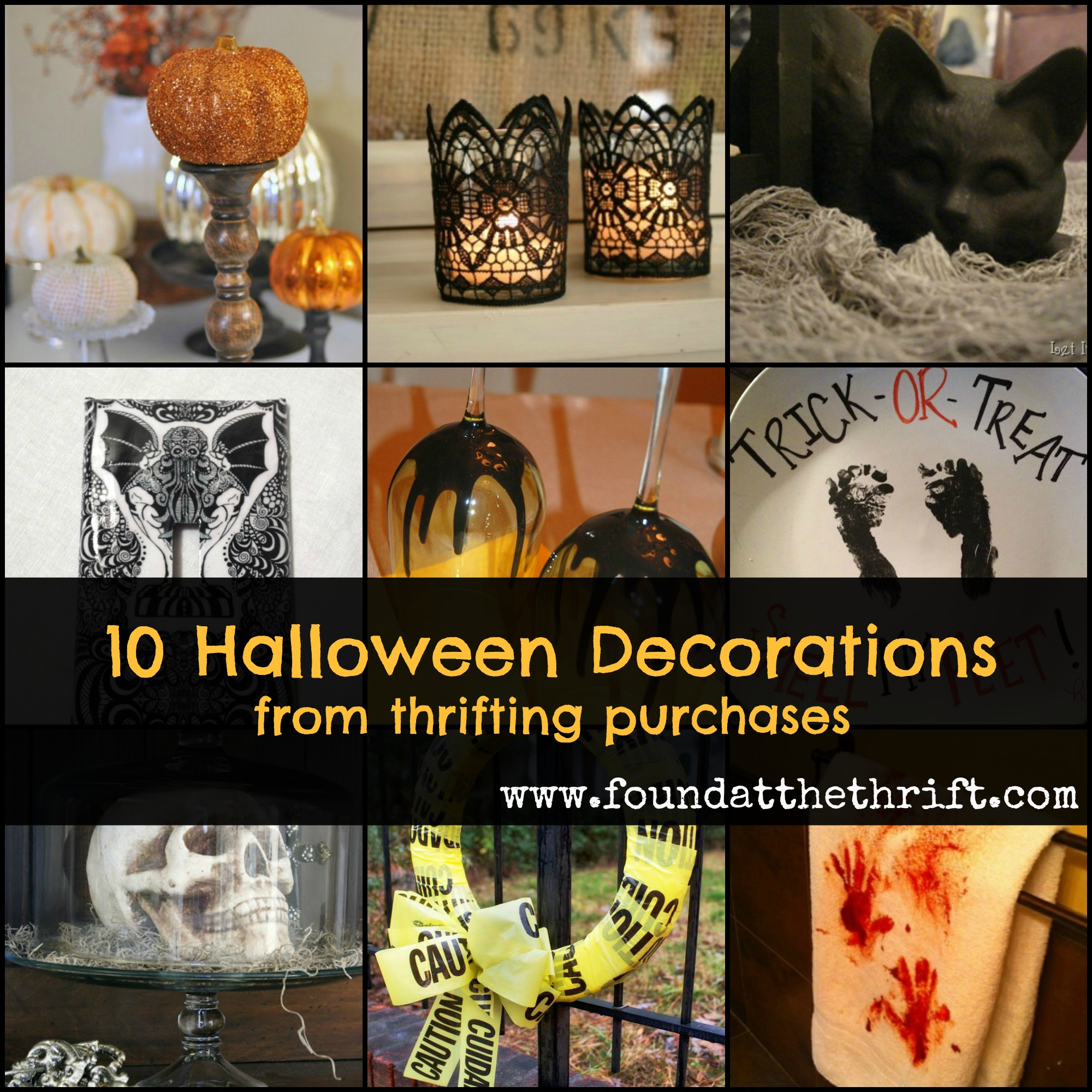 found at the thrift 10 halloween decorations from thrifting purchases halloween decor from thrifting