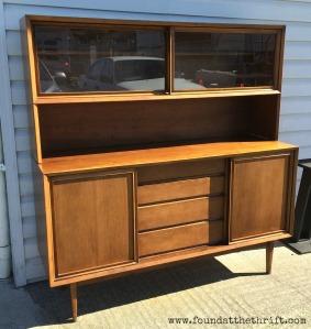 honerich, teak, teak hutch, teak credenza, you cant paint teak, found at the thrift, amazing furniture