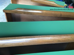 stain, staining drawers, upcycle, upcycled, vintage dresser, upcycled dresser, upcycle, green painted dresser, green dresser, chalk paint, in progress, DIY, DIY project, thrift, thrifting, found at the thrift, pop some tags, DIY, project, upcycled, upcycle