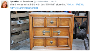 found at the thrift, thrifting, thrift, nightstand, DIY, upcycled nightstand