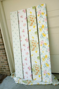 DIY, found at the thrift, vintage linens, vintage linen project, mod podge, mod podge project
